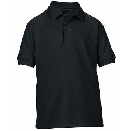 DryBlend® Youth Double Piqué Polo in Black von Gildan (Artnum: G72800K