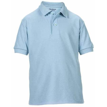 DryBlend® Youth Double Piqué Polo in Light Blue von Gildan (Artnum: G72800K