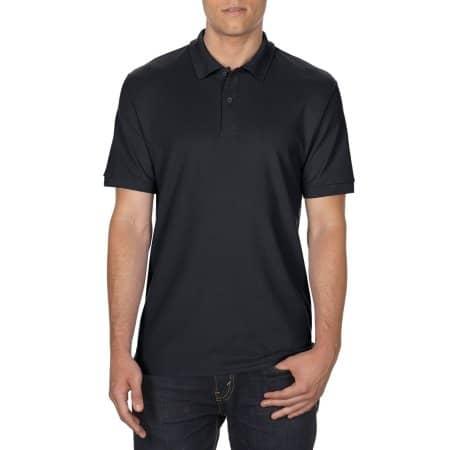 DryBlend® Double Piqué Polo in Black von Gildan (Artnum: G75800