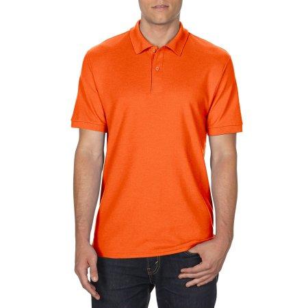 DryBlend® Double Piqué Polo in Orange von Gildan (Artnum: G75800