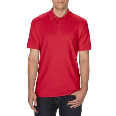 DryBlend® Double Piqué Polo in Red von Gildan (Artnum: G75800