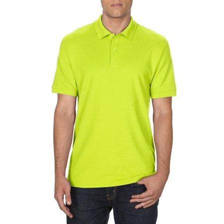 DryBlend® Double Piqué Polo in Safety Green von Gildan (Artnum: G75800