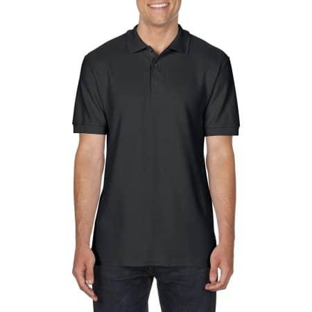 Premium Cotton® Double Piqué Polo in Black von Gildan (Artnum: G85800