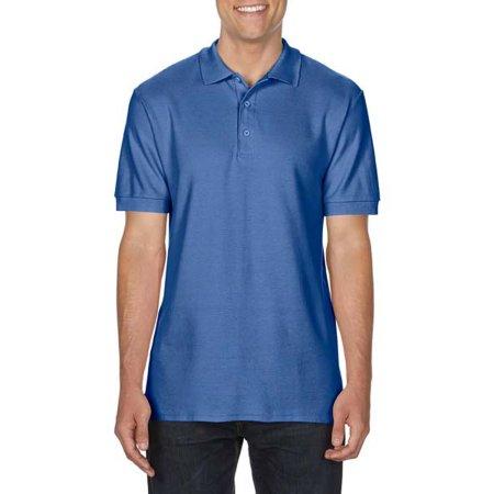 Premium Cotton® Double Piqué Polo in Flo Blue von Gildan (Artnum: G85800