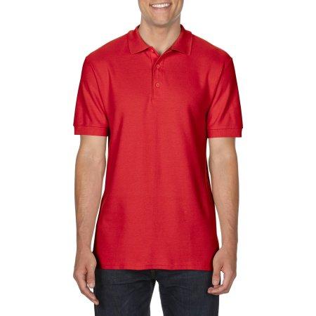 Premium Cotton® Double Piqué Polo in Red von Gildan (Artnum: G85800