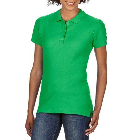 Premium Cotton® Ladies` Double Piqué Polo in Irish Green von Gildan (Artnum: G85800L