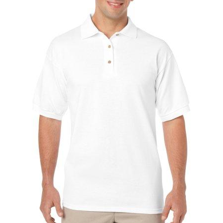 DryBlend® Jersey Polo in White von Gildan (Artnum: G8800