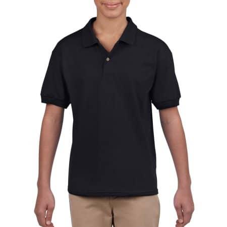 DryBlend® Youth Jersey Polo in Black von Gildan (Artnum: G8800K
