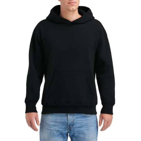 Hammer Adult Hooded Sweatshirt in Black von Gildan (Artnum: GHF500
