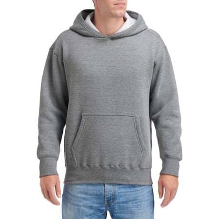 Hammer Adult Hooded Sweatshirt in Graphite Heather von Gildan (Artnum: GHF500