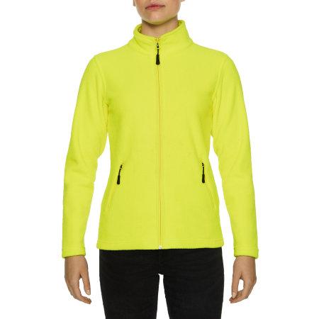 Hammer Ladies Micro-Fleece Jacket in Safety Green von Gildan (Artnum: GPF800L