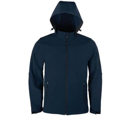 Men´s Hooded Soft-Shell Jacket von HRM (Artnum: HRM1101