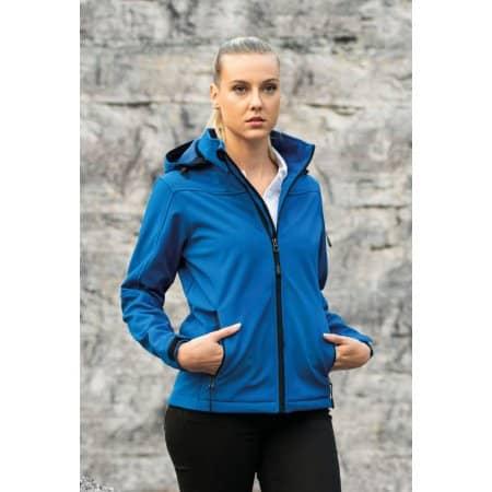 Women´s Hooded Soft-Shell Jacket von HRM (Artnum: HRM1102