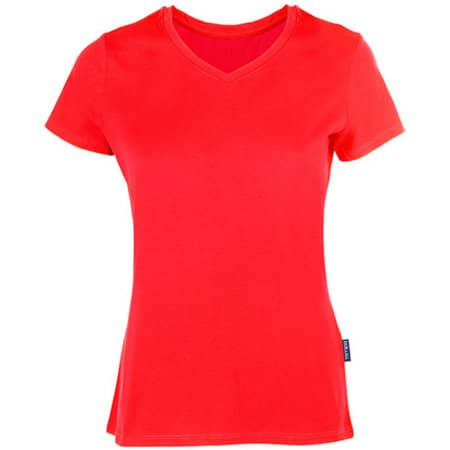 Women´s Luxury V-Neck Tees in Red von HRM (Artnum: HRM202