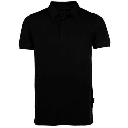 Men´s Heavy Polo in Black von HRM (Artnum: HRM301