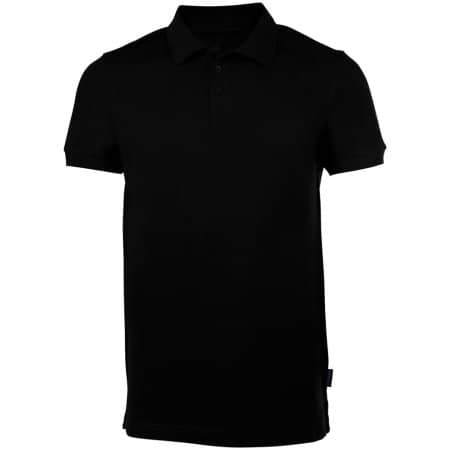 Men´s Heavy Stretch Polo in Black von HRM (Artnum: HRM302