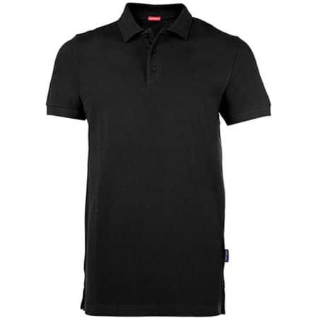 Men´s Heavy Performance Polo in Black von HRM (Artnum: HRM303