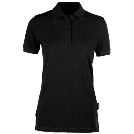 Women´s Heavy Polo in Black von HRM (Artnum: HRM401