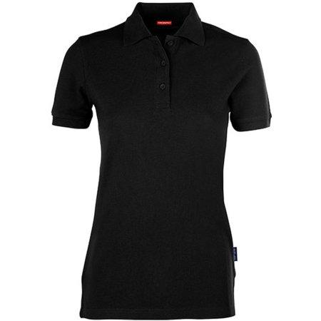 Women´s Heavy Performance Polo in Black von HRM (Artnum: HRM403
