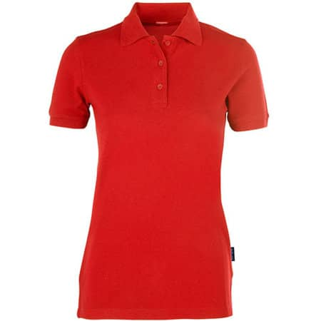Women´s Heavy Performance Polo in Red von HRM (Artnum: HRM403