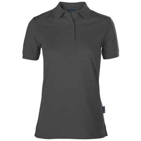 Women´s Luxury Polo in Dark Grey von HRM (Artnum: HRM601