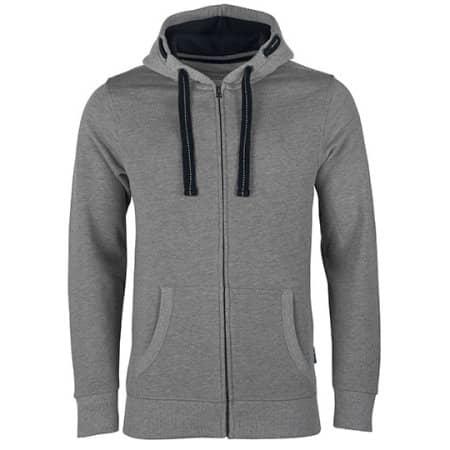 Men´s Hooded Jacket in Grey Melange von HRM (Artnum: HRM701