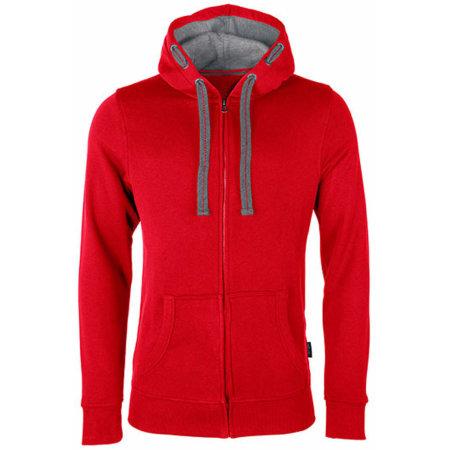 Men´s Hooded Jacket in Red von HRM (Artnum: HRM701
