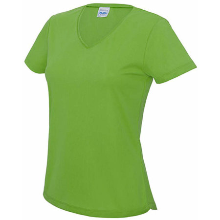 V Neck Girlie Cool T in Lime Green von Just Cool (Artnum: JC006