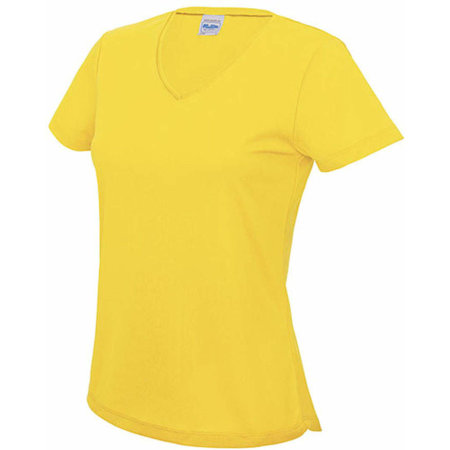 V Neck Girlie Cool T in Sun Yellow von Just Cool (Artnum: JC006