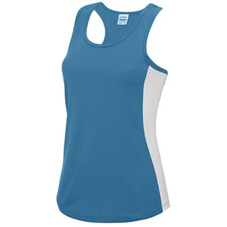 Girlie Cool Contrast Vest in Sapphire Blue|Arctic White von Just Cool (Artnum: JC016
