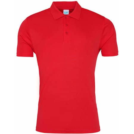 Cool Smooth Polo in Fire Red von Just Cool (Artnum: JC021