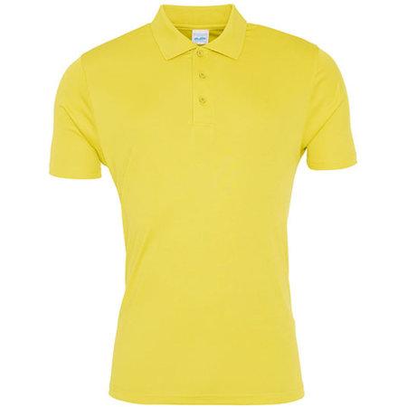 Cool Smooth Polo in Sun Yellow von Just Cool (Artnum: JC021