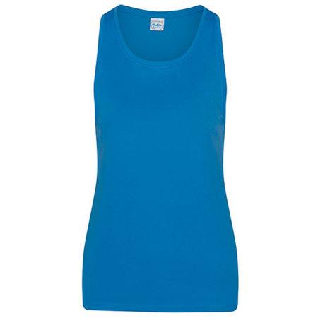 Girlie Cool Smooth Sports Vest in Sapphire Blue von Just Cool (Artnum: JC026