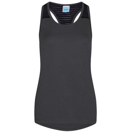 Girlie Cool Smooth Workout Vest in Charcoal (Solid)|Jet Black von Just Cool (Artnum: JC027