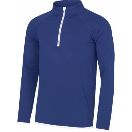 Men`s Cool 1/2 Zip Sweat von Just Cool (Artnum: JC031