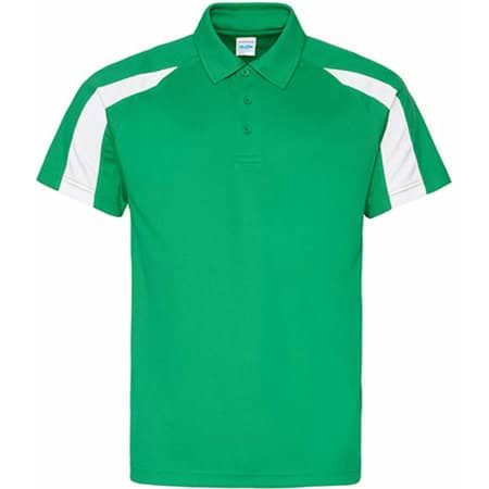 Contrast Cool Polo in Kelly Green|Arctic White von Just Cool (Artnum: JC043