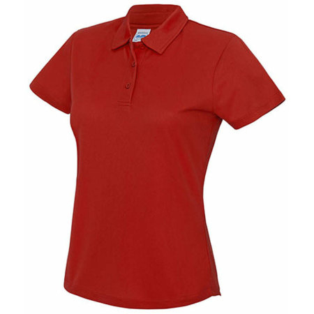 Girlie Cool Polo in Fire Red von Just Cool (Artnum: JC045