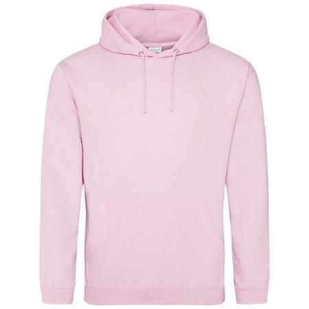 College Hoodie in Baby Pink von Just Hoods (Artnum: JH001