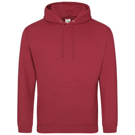 College Hoodie in Brick Red von Just Hoods (Artnum: JH001
