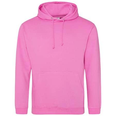 College Hoodie in Candyfloss Pink von Just Hoods (Artnum: JH001