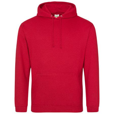 College Hoodie in Fire Red von Just Hoods (Artnum: JH001
