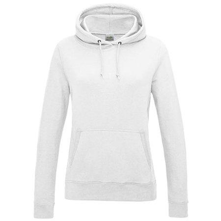 Girlie College Hoodie in Arctic White von Just Hoods (Artnum: JH001F