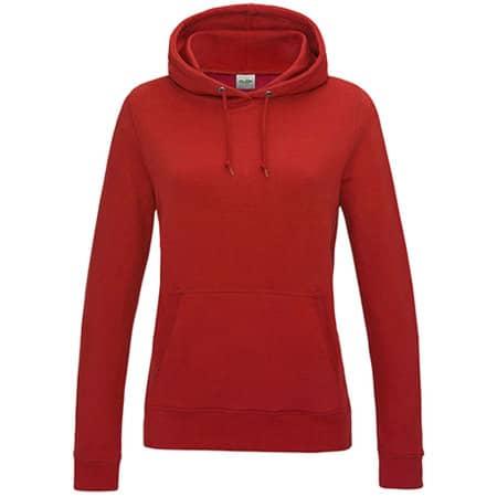 Girlie College Hoodie in Fire Red von Just Hoods (Artnum: JH001F