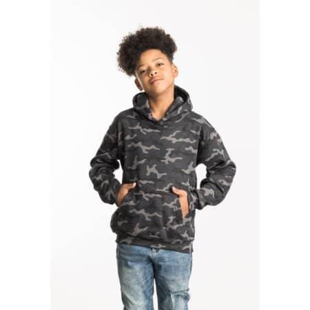 Kids Camo Hoodie von Just Hoods (Artnum: JH014J