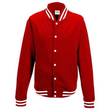 College Jacket in Fire Red von Just Hoods (Artnum: JH041