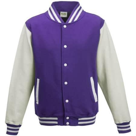 Kids` Varsity Jacket von Just Hoods (Artnum: JH043K