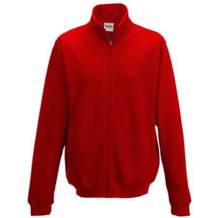Fresher Full Zip Sweat in Fire Red von Just Hoods (Artnum: JH047