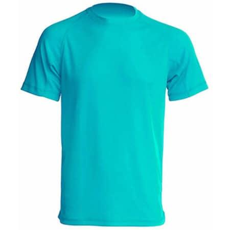 Sport T-Shirt Men in Turquoise von JHK (Artnum: JHK100