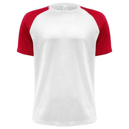 Sport T-Shirt Contrast Man von JHK (Artnum: JHK103