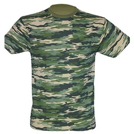 Regular T-Shirt in Camouflage von JHK (Artnum: JHK150